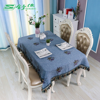 SHUDE flower table cover home furnishing manteles Table cloth for Home textile