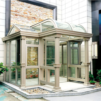 Outdoor winter garden aluminum enclosures sunroom prefabricated aluminium prefab houses glass sunroom