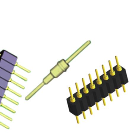 Fabricante de 1.778/2,54/2,0/1,27mm ronda Pin Header 20 pin Socket IC
