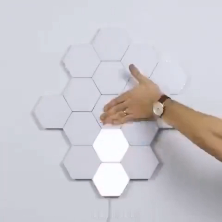 CE certificate DIY LED Quantum Wall Lamp Creative Modular Touch Sensitive lights Quantum Hexagonal Lights for gift, DIY Lovers