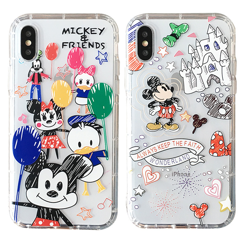 CYPC-0042 Soft TPU Cartoon Leuke Disneys Mickey Mouse Matte Telefoon Gevallen voor iphone X XR XS XS Max 6 6s Plus 7 8 Plus