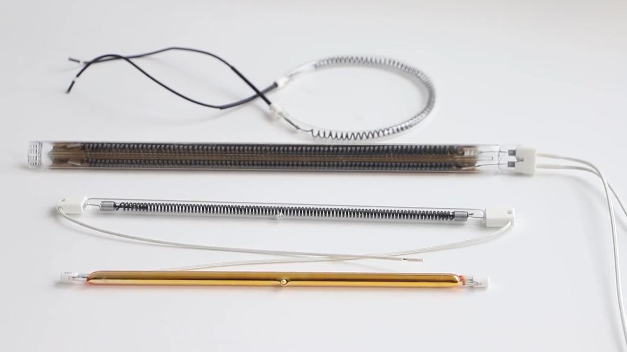औद्योगिक दूर अवरक्त स्टार फिलामेंट अवरक्त दीपक ट्यूब हीटिंग तत्व बिजली क्वार्ट्ज हीटर
