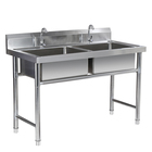 High Quality 201/304 Stainless Steel sink Custom Kitchen Equipment Durable Sink Catering kitchen wash
