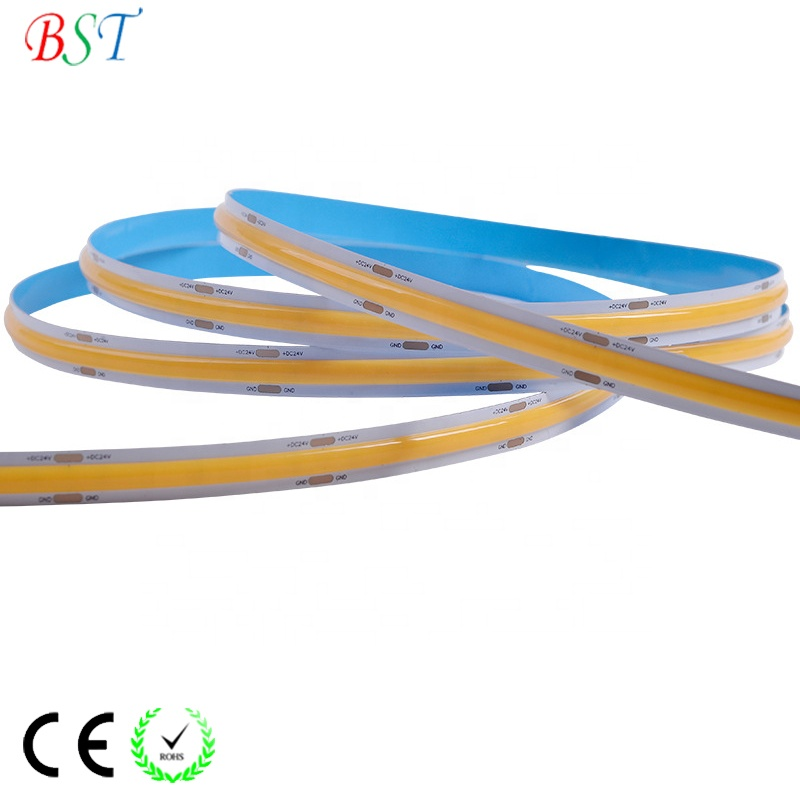 Flexible COB LED Strip Light high brightness CRI>90 DC12V DC24V high quality Sanan LED chip FCOB LED strip Lights