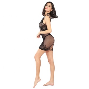 0c1ede647b2 Hot Nude Fishnet Short Sexy Nighty Dress Girls Women Sexy Lingerie Xxx  Photos Babydoll Dress