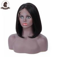"""Bob Lace Front Human Hair wigs 13*4 And 4*4  Short Bob 6""""-16"""" Natural Color And 613#  Human hair Wig India  Human Hair Wigs"""