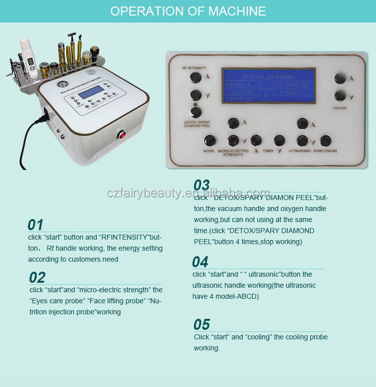 Factory price 10 in 1 Multifunction Skin Peeling Microdermabrasion Facial lifting Machine