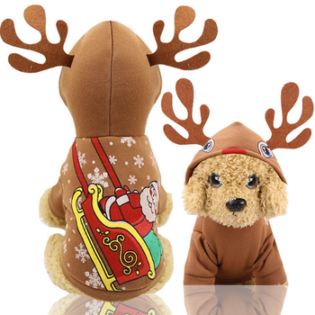 Free Samples New Hot Sell Designer Dog Clothes Pet Apparel Christmas Cut Puppies in Clothes