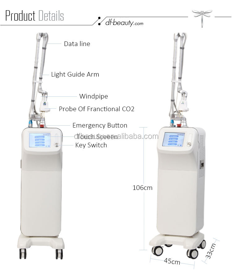 DFLASER Professional Ce Approved Medical Beauty Equipment 10600nm Vaginal Tightening Fractional Co2 Laser Equipment
