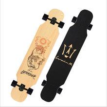 ADREA скейтборд Лонгборд для взрослых детей девочка 107 см/42in скейт Алюминиевый Грузовик клен палуба patins grip tape Russina кленовое дерево(Китай)