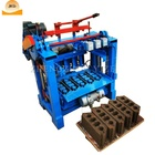 Semi automatic interlocking soil cement brick making machine 4-35 concrete hollow block making machine lowest price philippines