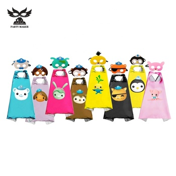 Birthday baby Party The Octonauts Capes Boys Girls Superhero Cosplay Capes and Masks Set Costume For kids