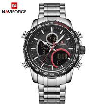 NAVIFORCE люксовый бренд, мужские часы, аналоговые, спортивные, кварцевые часы, военный, светодиодный, цифровой, мужской хронограф(Китай)