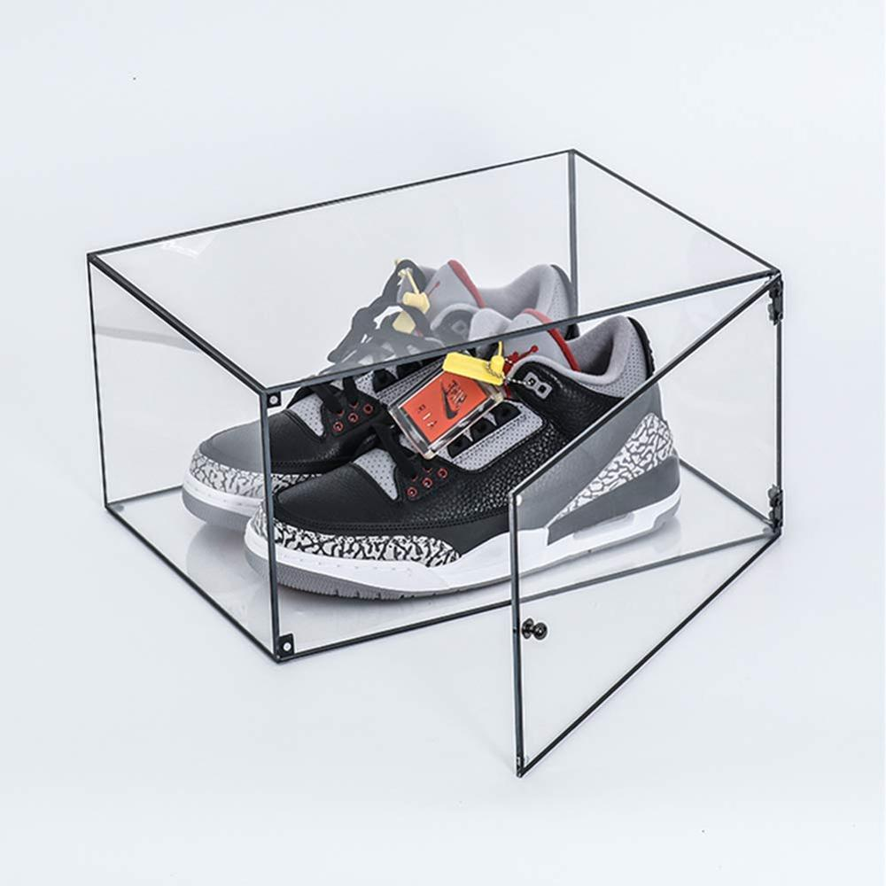 Custom High Transparent Clear Acrylic Shoe Sneaker Box For Shoe <strong>Display</strong>