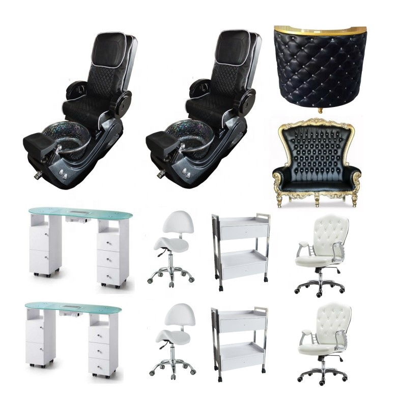 Great Foshan Factory Pink Reclining Massage Manicure Foot Spa Luxury Pedicure Chairs On Sale