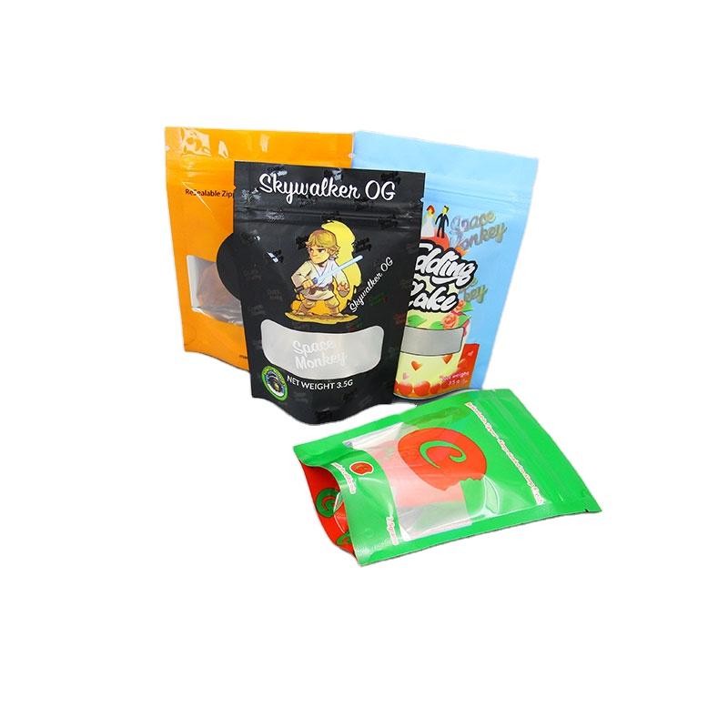 الجملة رخيصة بذور التعبئة والتغليف الوقوف البلاستيك 3.5g حقيبة كعكة الزفاف زهرة الحقائب 500mg لول المأكولات غائر الدب الكوكيز أكياس