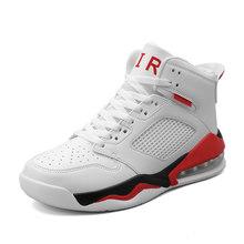 Баскетбольная обувь в стиле ретро для мужчин, амортизирующие износостойкие кроссовки, спортивная дышащая спортивная обувь с высоким берце...(Китай)