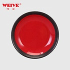 Wholesale red and black porcelain plates japanese Korean cheap dishes bulk ceramic plate wedding crockery&A0016W14Y101