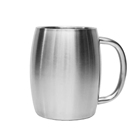 CL1C-M15-B Comlom 400ml Double Wall Stainless Steel Beer coffee Mugs with Lids and handle