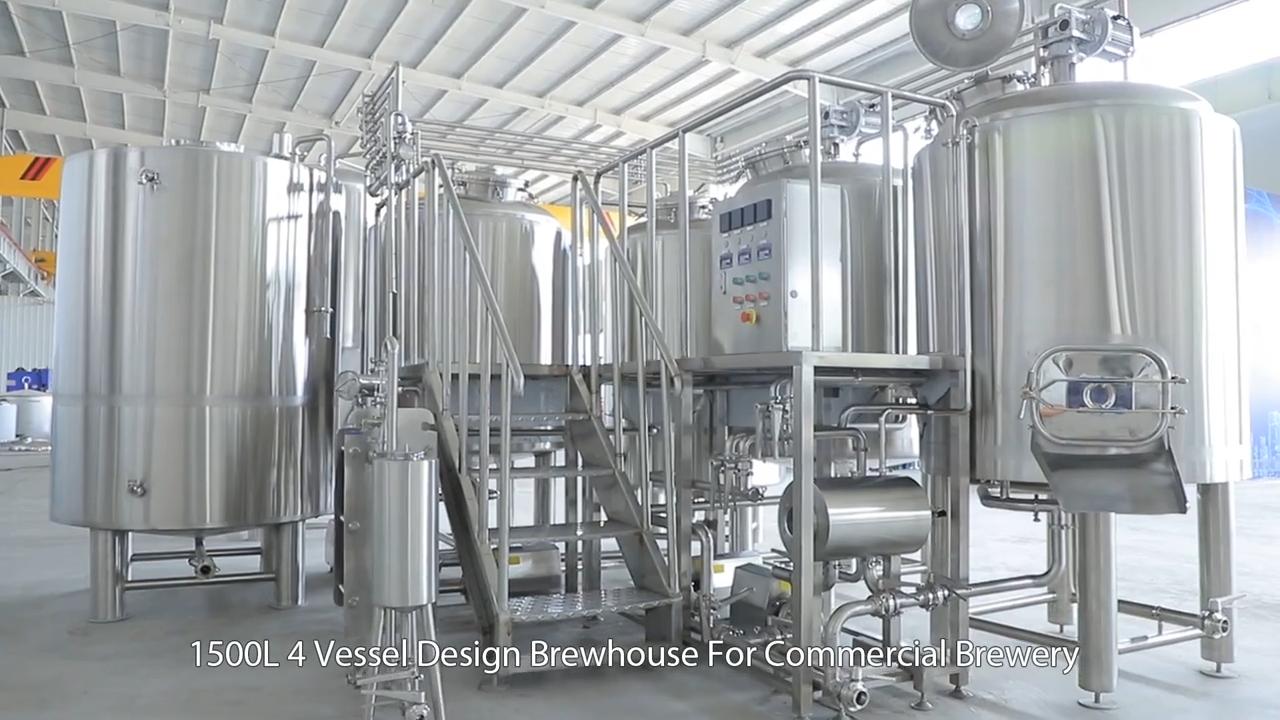 गर्म बिक्री वाणिज्यिक स्टेनलेस स्टील शिल्प बीयर शराब की भठ्ठी उपकरण टर्नकी बीयर पक उपकरण