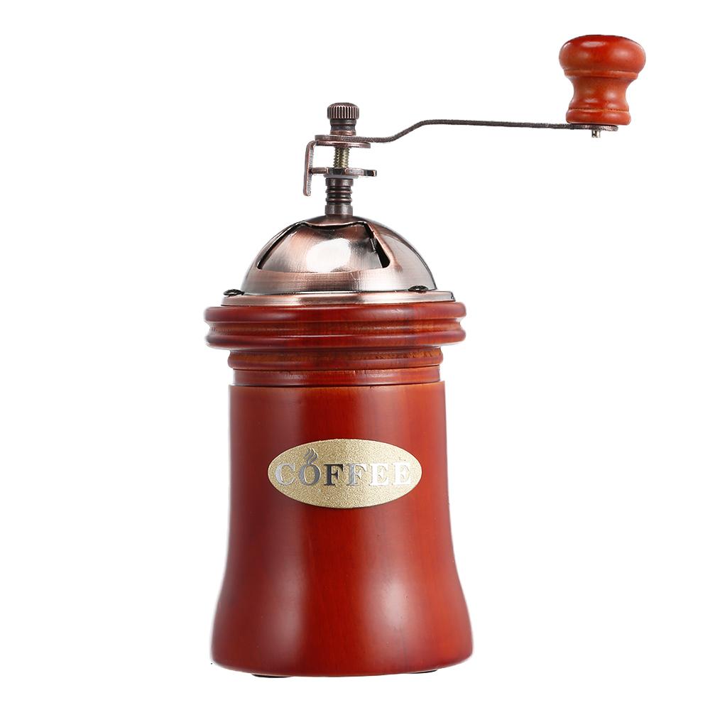 Ручная деревянная кофемолка ручной шлифовальный станок Ретро стиль дизайн кофе в зернах еда перец мельницы Винтаж чайник кухонные инструм...(Китай)
