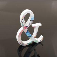 1 шт. 10 см X 10 см домашний декор белая деревянная буква Английский алфавит DIY Дерево Искусство ремесло отдельно стоящее сердце свадебное укра...(Китай)