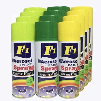 Waterproofing And Heat-resistant F1 Aerosol Spray Paint Multi-use Black Colour Acrilyc Spray Paints With Branding