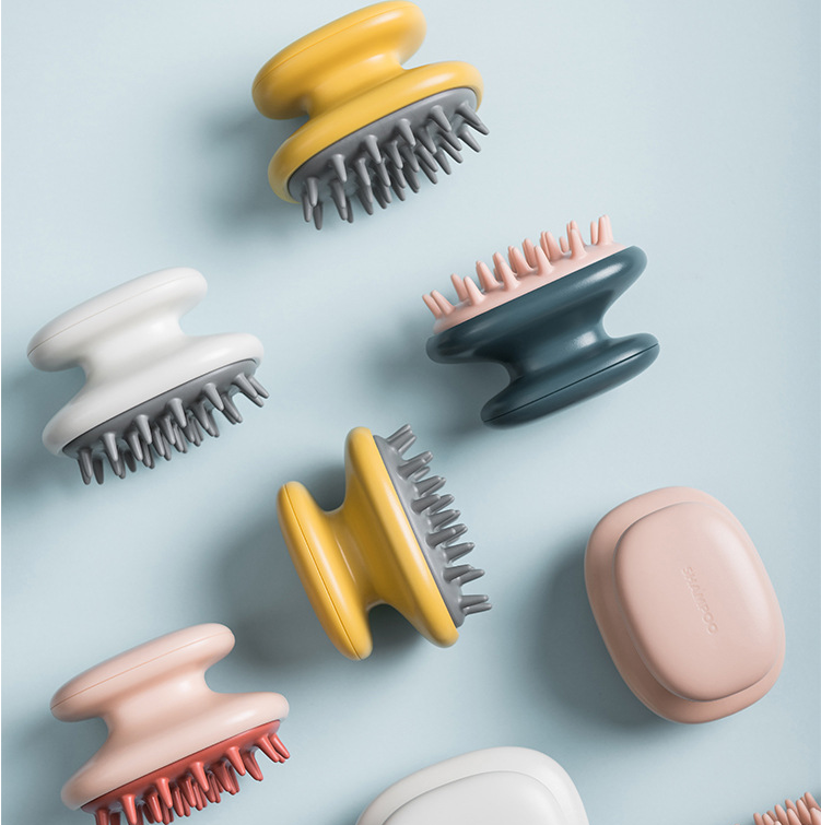 Manual Head Scalp Massage Brush for Scalp Care Hair Cleaning Shower Hair Scalp Massager Shampoo Brush