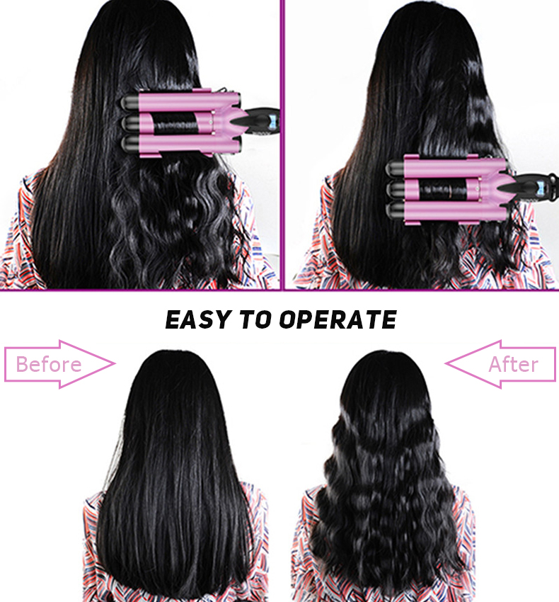 ส่วนบุคคล Twist 2 In 1 CRIMP Curling Irons