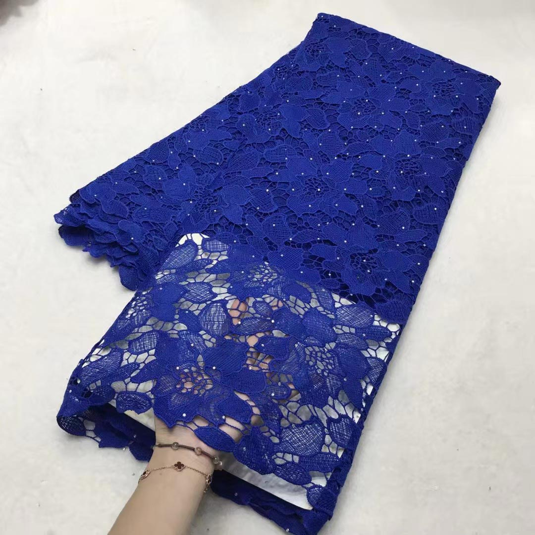 2021 latest mikemaycall cord lace fabric guipure lace african sewing material for women dress
