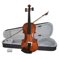 Wholesale factory price aiersi handmade violin outfits red brown wood violins for beginner kids OEM ODM brand string instruments