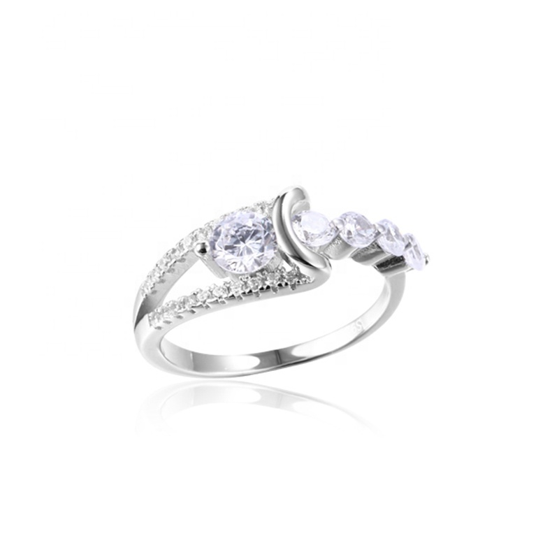 K593 925 sterling silver jewelry white gold plated unique engagement rings by Moyu