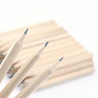 2020 Promotional Cheap Custom Logo Bulk 3.5 inch Cheap Hexagonal Mini Soft Wood Natural Wood Golf Pencil