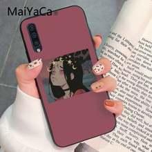 MaiYaCa Милая Эстетическая мода аниме девушка DIY Роскошный Высокий протектор на конце PhoneCase для Samsung ggalaxy S9 plus S3 S6 7 8 9 S10 E S9(Китай)