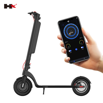 HX X8 Big capacity10AH battery 45KM & 350W motor & 10inch two wheel adults mobility fat tire electric scooter