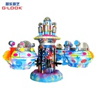 Space roaming rotating plane modern amusement park children rides