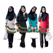 Zakiyyah F20 Hot Sale Fashion Stylish Bahan Linen Muslim Wanita Pakaian Garis Abaya Burqa