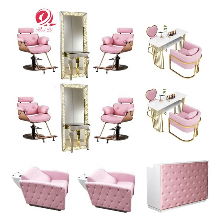 Hotsale modern pink manicure tables pedicure foot spa massage chair for nail salon furnitures