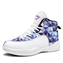 Высокие баскетбольные кроссовки для мужчин, ретро кроссовки, дышащий светильник, противоскользящие баскетбольные кроссовки для женщин и м...(Китай)