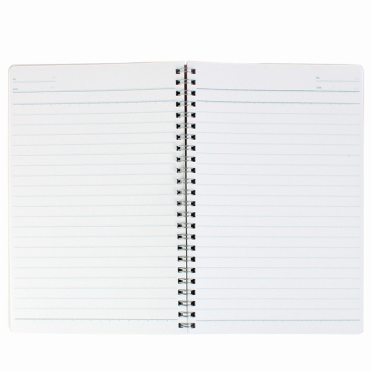 Blank pvc cover exercise bulk spiral notebook with black elastic band