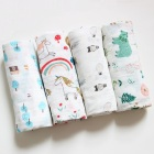 Bamboo Cotton Custom Design Printing Muslin Bamboo Cotton Stocks Baby Swaddle Blanket