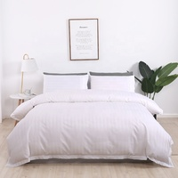 White stripe pattern Super soft and comfortable 100% cotton quilt cover sets