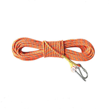 8MM braid nylon outdoor mountain climbing safety rope for hot sale