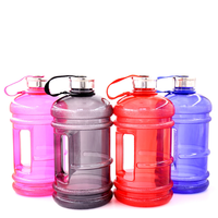 Large Capacity Sports Water Bottle Reusable fitness filter plastic kettle with side handlebi PETG bottle gym