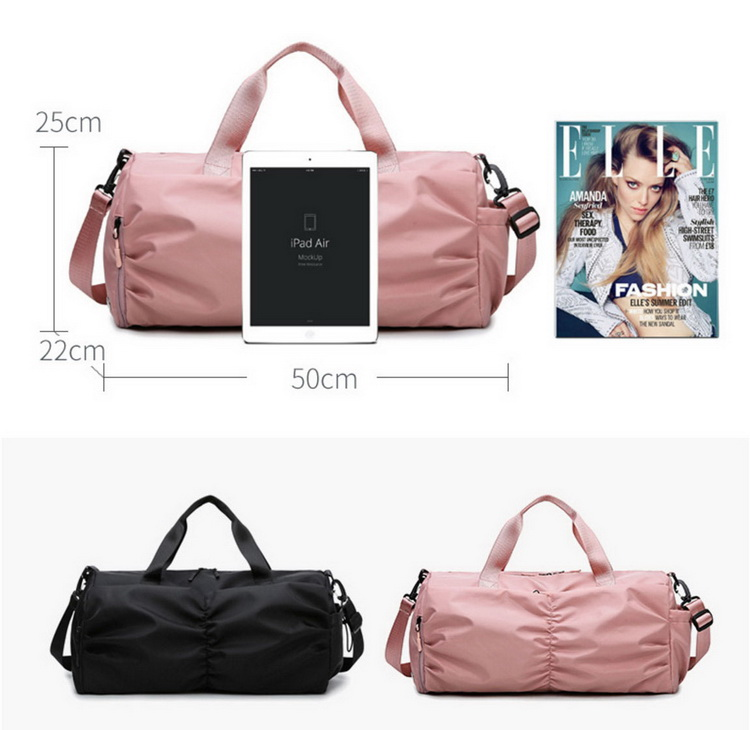 Gym Bag Waterproof Lady Bag Large Capacity Travel Bag With shoe compartment