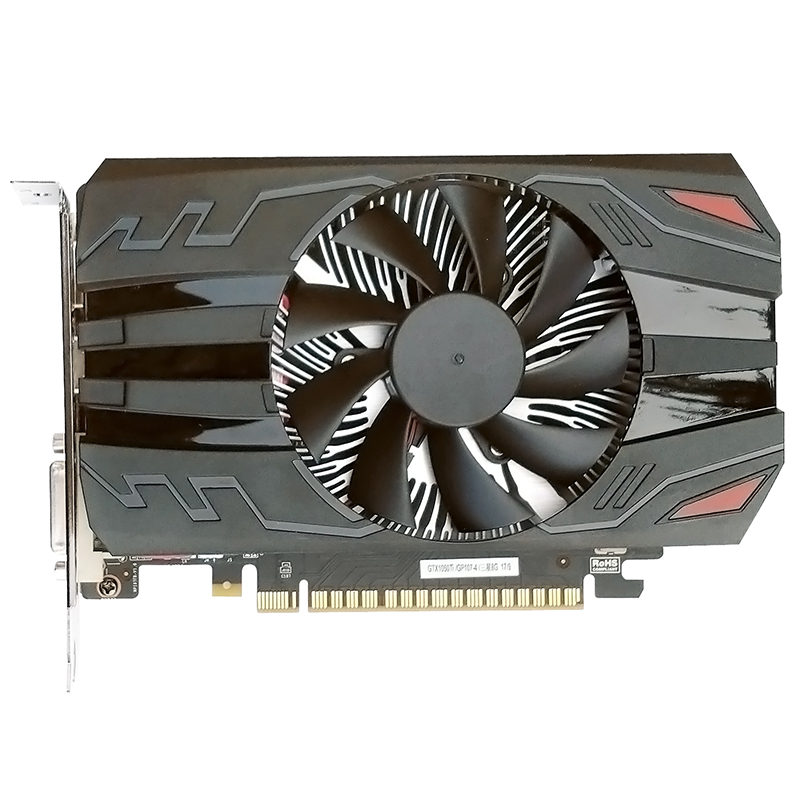 Minière haute Performance Unique Ventilateur GeForce GTX1050Ti Gaming Carte VGA
