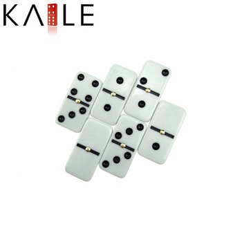 domino tiles white domino with black dot with spinner