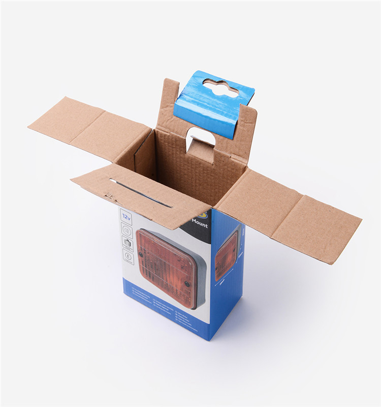 Custom Automobile Printed Recycled Paper Folding Corrugated Small Packing Box