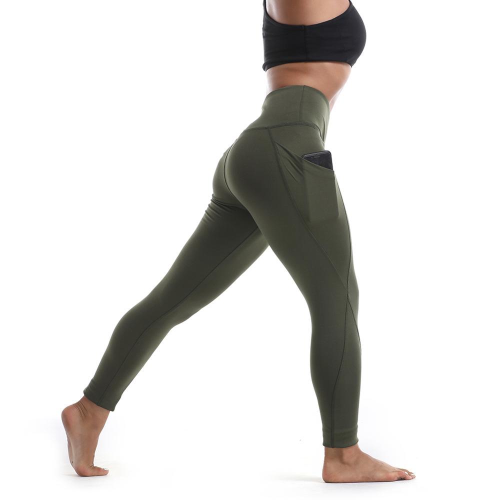 Nuovo Stile di Modo Workout Leggings Per Le Donne Tasca Laterale Sportswear Pantaloni di Yoga Produttore