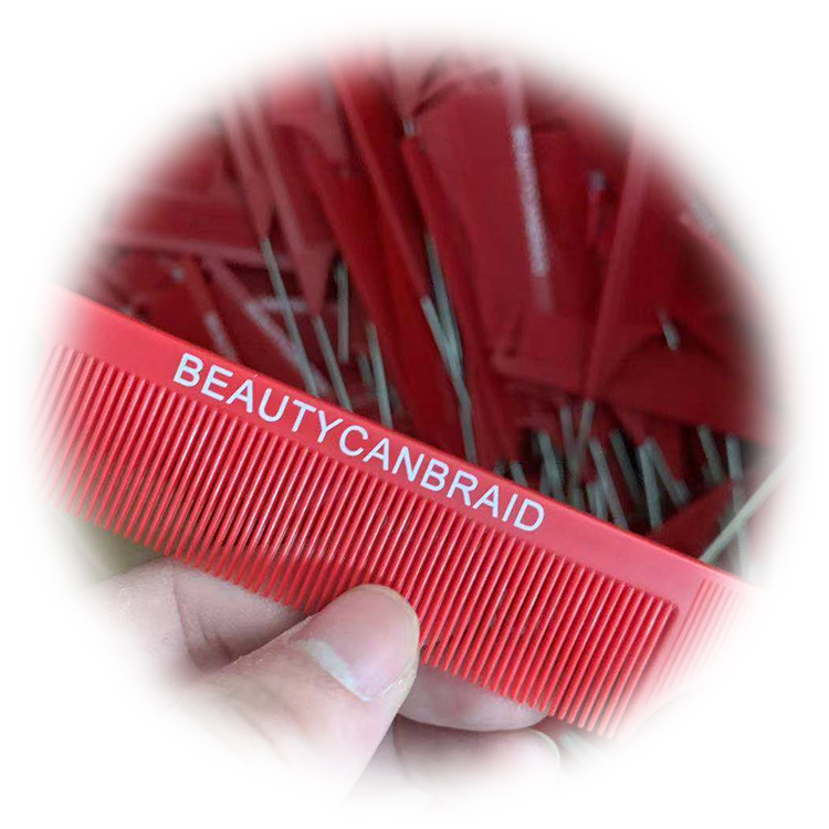 Private Label Carbon Parting Tail Comb Plastic /Metal Thin Long Rat Tail Comb Carbon